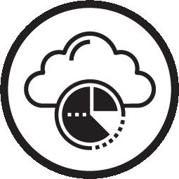 Circle icon for data analytics