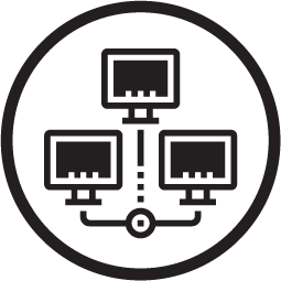 Circle icon for cyber operations.